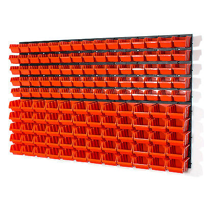 141 teiliges Wandregal Lagerregal Stapelboxen Orange POP Serie Gr.1, Gr.2 Lager