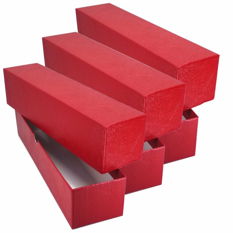 """3 RED STORAGE BOX ( 2""""x 2""""x9"""" ) FOR 2x2 FLIP SNAP COIN HOLDERS"""