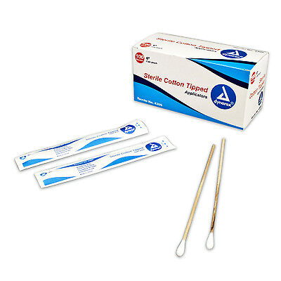 (Cotton Tipped Wood Applicators Sterile - 6