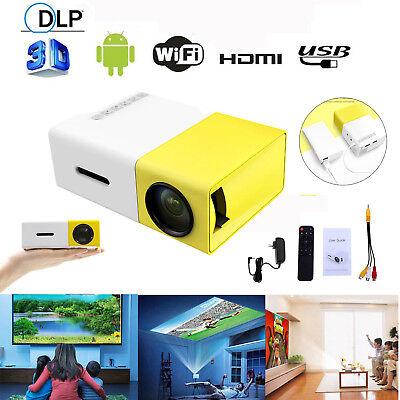 YG300 HD1080P LED Mini Projector Portable Home USB AV SD 16:9 Theater Cinema Lot