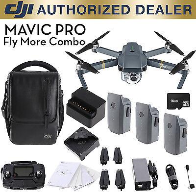 DJI Mavic Pro Fly More Combo - 12MP 4K Stabilized Camera, Active Track, GPS