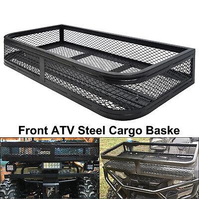 Universal Front ATV Steel Cargo Basket Rack Luggage Carrier Mesh Surface Hunt Atv Cargo Carrier