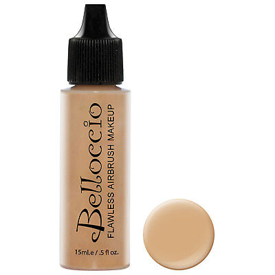 Belloccio Airbrush Makeup HONEY BEIGE SHADE FOUNDATION Flawless Face Cosmetic