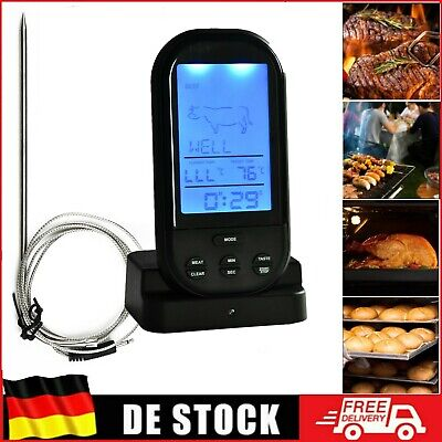 Bratenthermometer Digital Grillthermometer Funk Grill Food Fleisch Thermometer