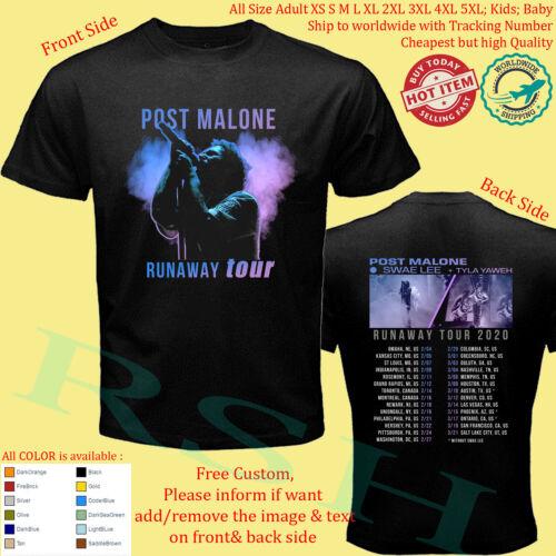 POST MALONE SWAE LEE TYLA YAWEH RUNAWAY TOUR 2020 T-Shirt S-5XL Youth Infants