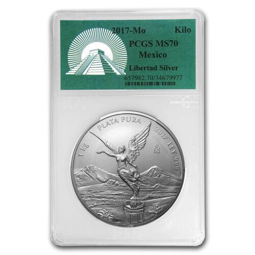 2017 Mexico 1 kilo Silver Libertad MS-70 PCGS (Green Label)