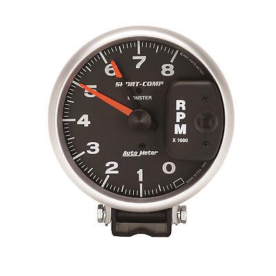 Autometer 3980 Sport-Comp Tachometer Gauge, 5 in., Electrical