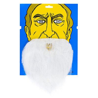 Weiße Kostüm Bart (Falscher unechter Bart für Fasching Karneval Party Kostüm Fake Vollbart Weiß)