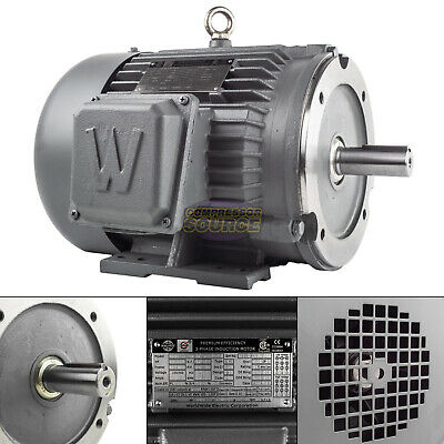 5 Hp 3 Phase Electric Motor C-face 1800 Rpm 184tc Tefc 230460 Volt Severe Duty