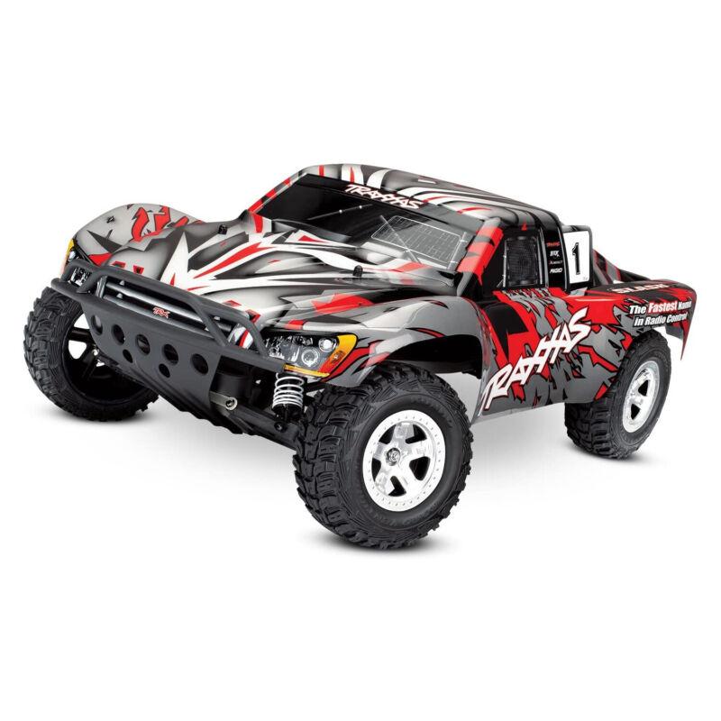 Traxxas Slash 4x4 Short Course Remote Control RC Truck, 2WD, 1/10 Scale, Red