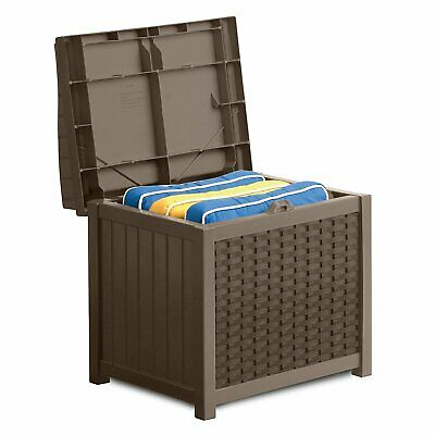 Outdoor Wicker Storage Seat Deck Patio Furniture Tool Toy Pool Box Chair Bench