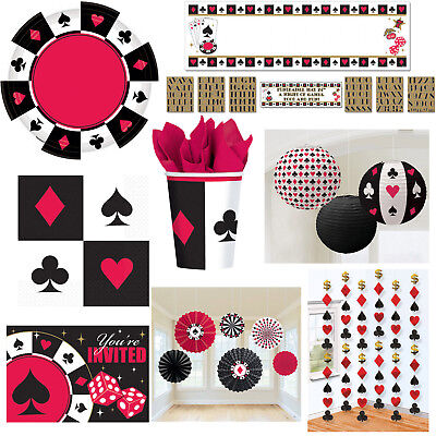 Poker-motto-party (Poker Motto Party Auswahl Dekoration Themenparty Pokerparty Casino NEU)