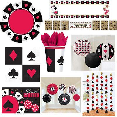 Poker Motto Party Auswahl Dekoration Themenparty Pokerparty Casino NEU