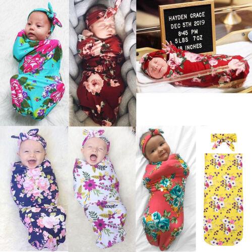 US Newborn Baby Infant Cotton Swaddle Blanket Wrap Sleeping