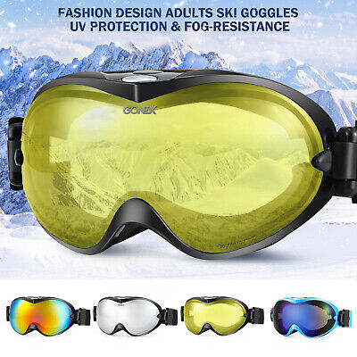 Ski Goggles With Case Double Lens UV400 Anti-fog Ski Snow Glasses Skiing