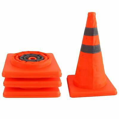 4x Collapsible Traffic Cones Reflective Pop Up Traffic Safety Warning Sign 15.5