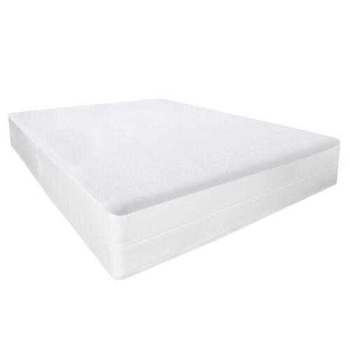 Mattress Encasement Waterproof Cotton Terry Zippered Bed Bug Protector Bedding