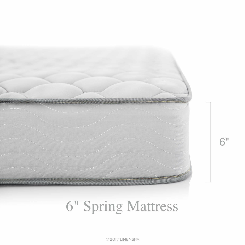 "Twin Size Linenspa 6"" Innerspring Mattress In-a-Box Rolled u"