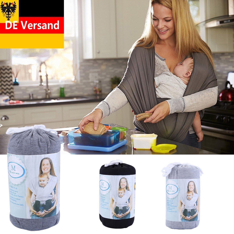 Babytragetuch elastisches Tragetuch für Früh- und Neugeborene Kleinkinder ~20KG