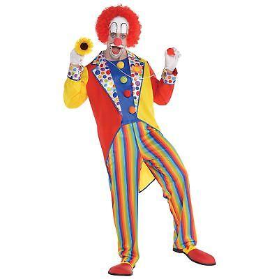 Erwachsene Herren klassisch Rainbow Zirkus Clown Party Anzug Overall