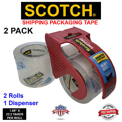Scotch Shipping Packing Tape 1.88 X 800 22.2yards Heavy Duty - 2 Pack