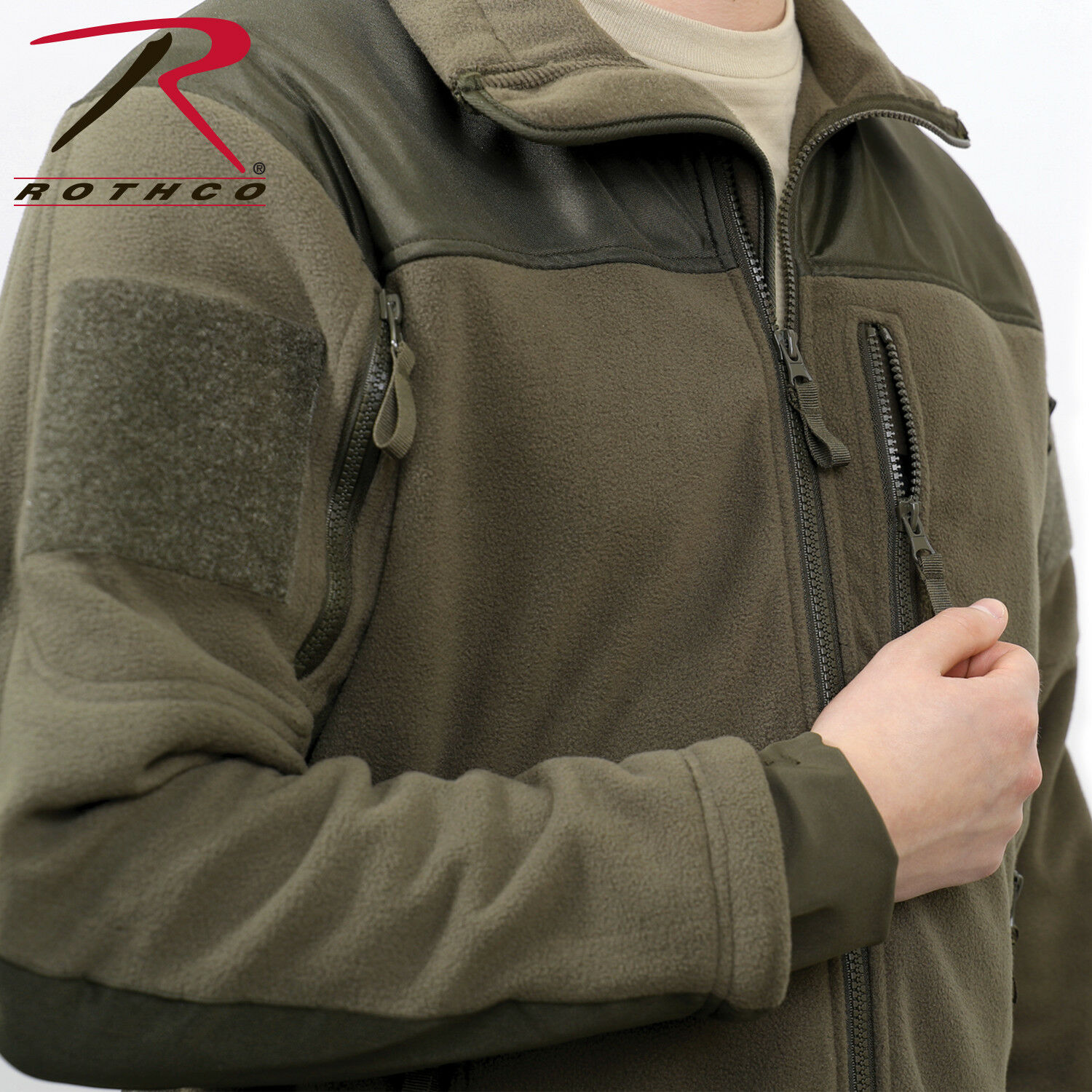 Spec Ops Tactical Fleece Jacket Full Zip Military Army Uniform Sports Top Coat