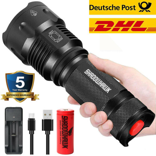 20000lm SHIXE 18650 CREE L2 LED taktische Taschenlampe Military Torch Camping DE