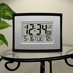 Digital Wall Clock Home Office Table Alarm Time Day Date Function In Door Temp