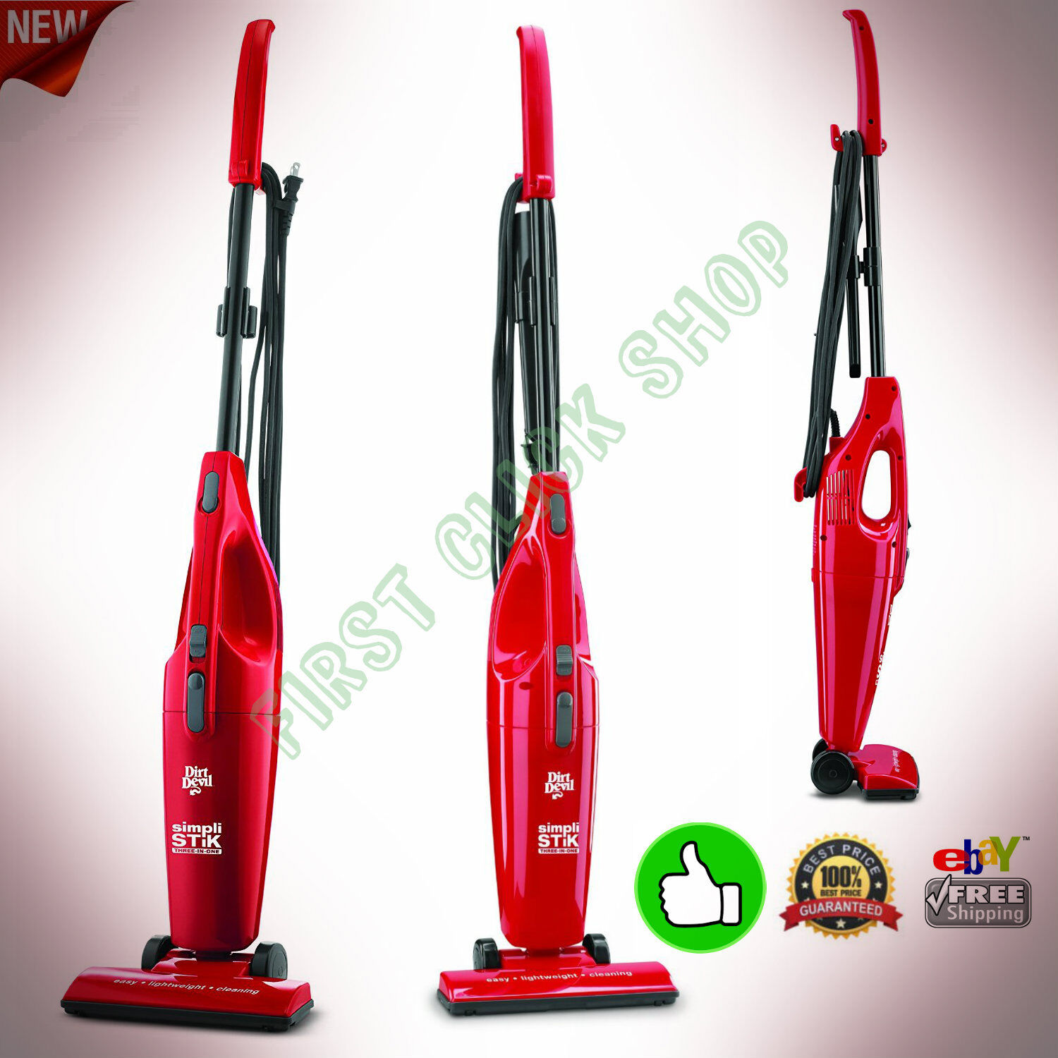 Bagless Vacuum Cleaner Upright Corded Pet Hand Vac Cleaning