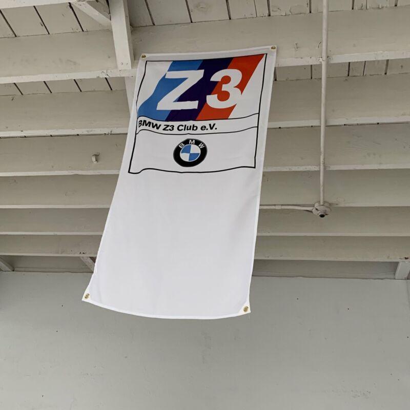 BMW Z3 Club Garage Display Banner E36 3-Series Roadster M43 M44 S54 S52 I6 Flag