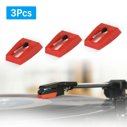 3Pcs Universal Retro Record Player Stylus Turntable Replacement Recorder Needle