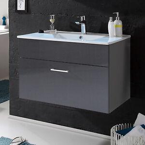 Waschtisch grau ebay for Badschranke mit waschbecken