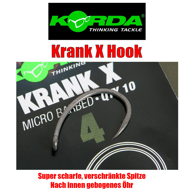 Korda Krank X Haken Karpfenhaken Angelhaken Karpfen Angeln Carp Hook Gr.1-8