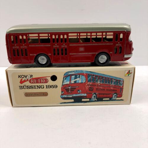 Kovap 1959 Retro Bussing 1959 Tinplate Tin Red Bus Truck Model Original Box