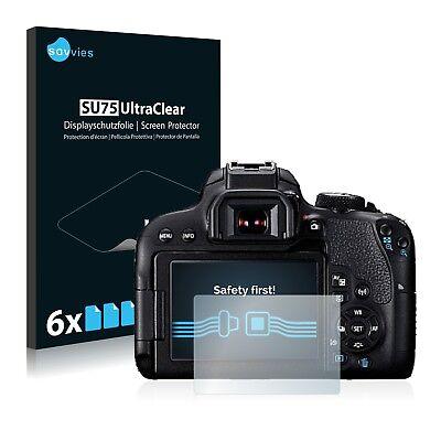 6x Displayschutzfolie für Canon EOS 800D Schutzfolie Klar Folie Displayfolie