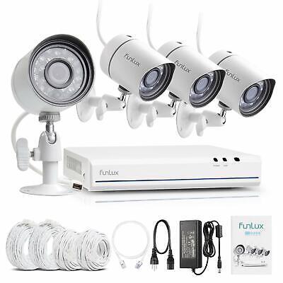 Funlux Sicherheitssystem: 4CH NVR sPoE + 4x 720p Überwachungskamera