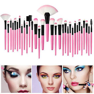 32Pcs Make Up Brush Set & Cosmetic Brushes Case Nature Wood More Styles Hot Use