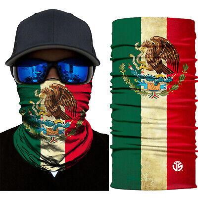 Mexican Flag Neck Gaiter Warmer Balaclava Face Masks Ski Scarf Bandana Fishing