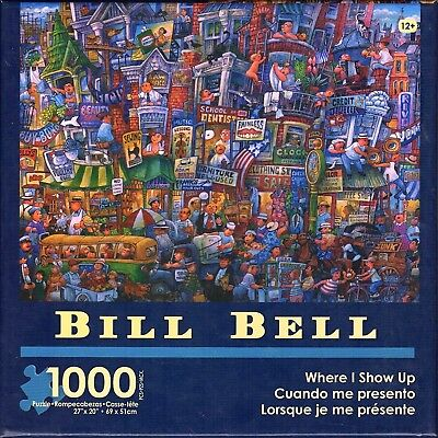 Where I Show Up 1000 piece Jigsaw Puzzle Bill Bell NEW city street fun party art