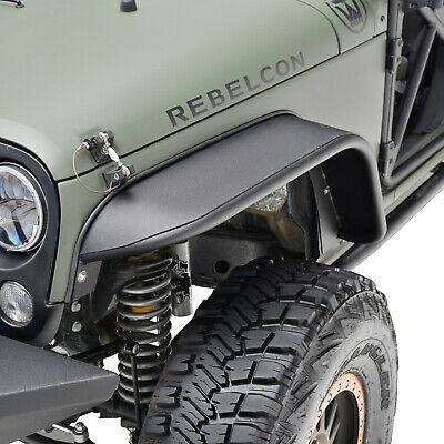 Fender Flares Rocker Guard Textured Steel Front Fits 07-18 Jeep Wrangler JK