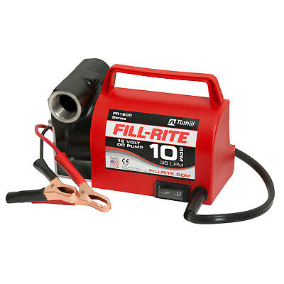 Fill-rite Fr1612 12v 10 Gpm Portable Fuel Transfer Pump With Power Cord Red