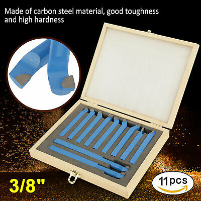 11pc 38 Carbide Tip Tipped Cutter Tool Bit Cutting Kit For Metal Lathe Tooling