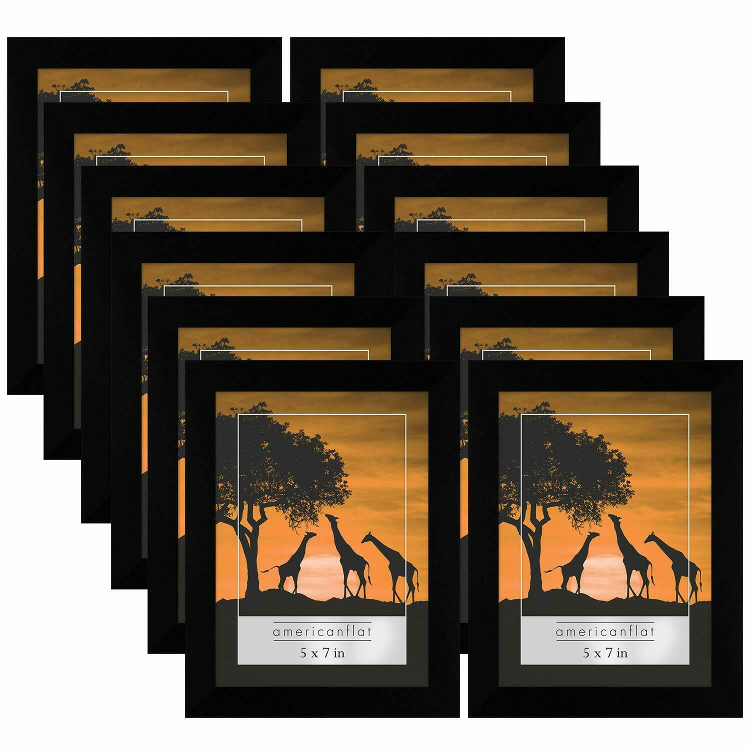 12 pack 5x7 picture frames display pictures