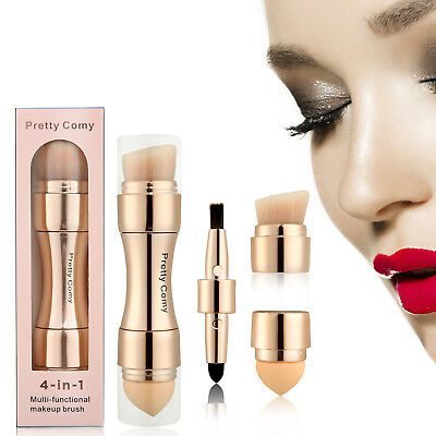 4-in-1-Make-up-Pinsel Flüssiges Foundation-Puder-Blush-Contour-Stipple-Blending