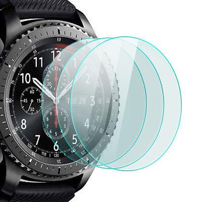 3x Display Schutz Glas für Samsung Gear S3 Frontier Classic 9H-Panzer Glasfolie