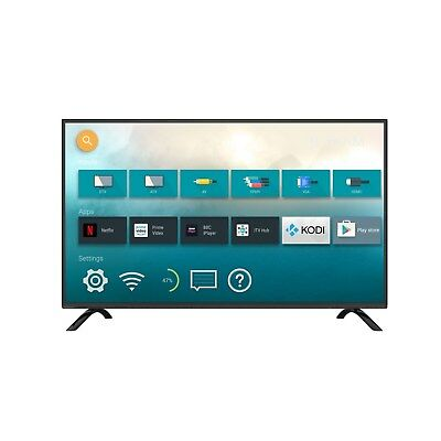 electriQ 43 Inch Android Smart 4K Ultra HD LED TV WiFi Freeview HD Freesat