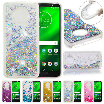 For Motorola Moto E4 E5 G6 G5s Plus Glitter Moving Quicksand Soft TPU Case Cover