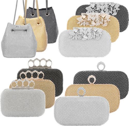 Rhinestone Crystal Clutch Purse Women Evening Bag Formal Party Wedding Handbags