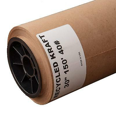 30 X 1800 Inch Brown Kraft Paper Roll Shipping Wrapping Cushioning Void Fill New