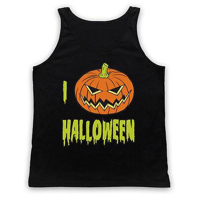 I LOVE HALLOWEEN PUMPKIN COOL CUTE HORROR CELEBRATION UNISEX TANK TOP VEST (Halloween Cool Pumpkins)
